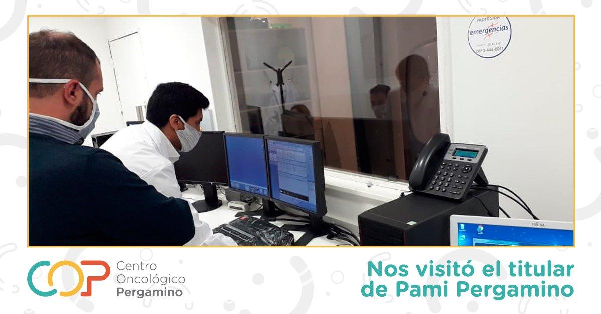 El titular del PAMI Pergamino visitó el Centro Oncológico Pergamino