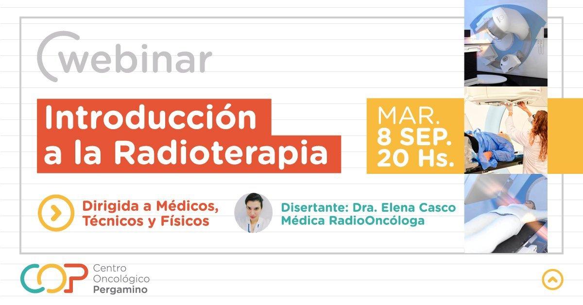 """Webinar """"Introducción a la Radioterapia"""" COP"""