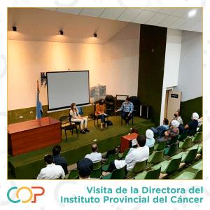 Vicita de la Directora del Instituto Provincial del Cáncer (IPC) al COP