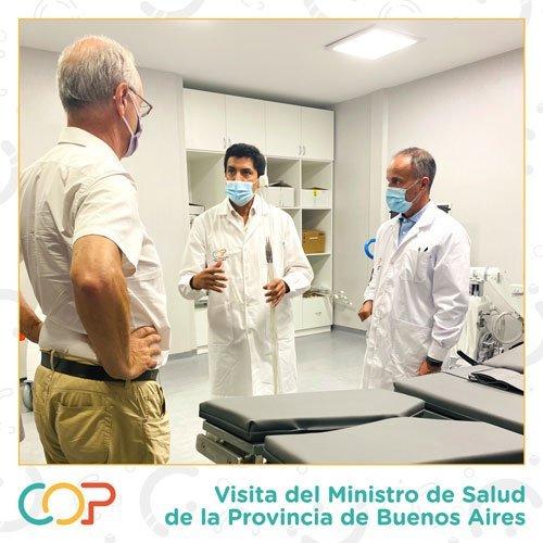 Visita del Ministro de Salud de la provincia de Buenos Aires al COP