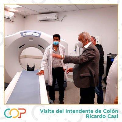 El intendente de Colón visitó el COP